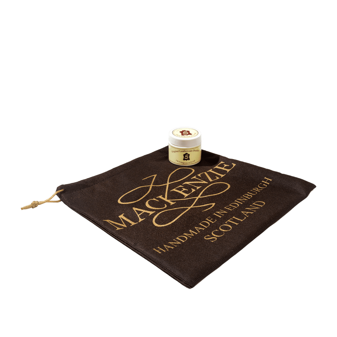 Small leather cream care & dustbag