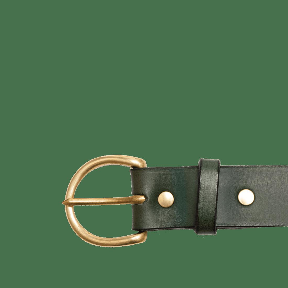 Italian Saddle Hide Green