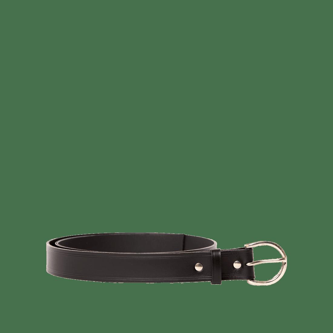 Italian Saddle Hide Black