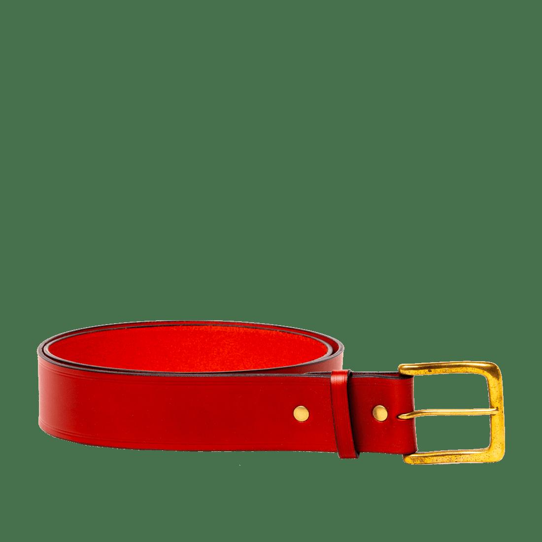 Italian Saddle Hide Red
