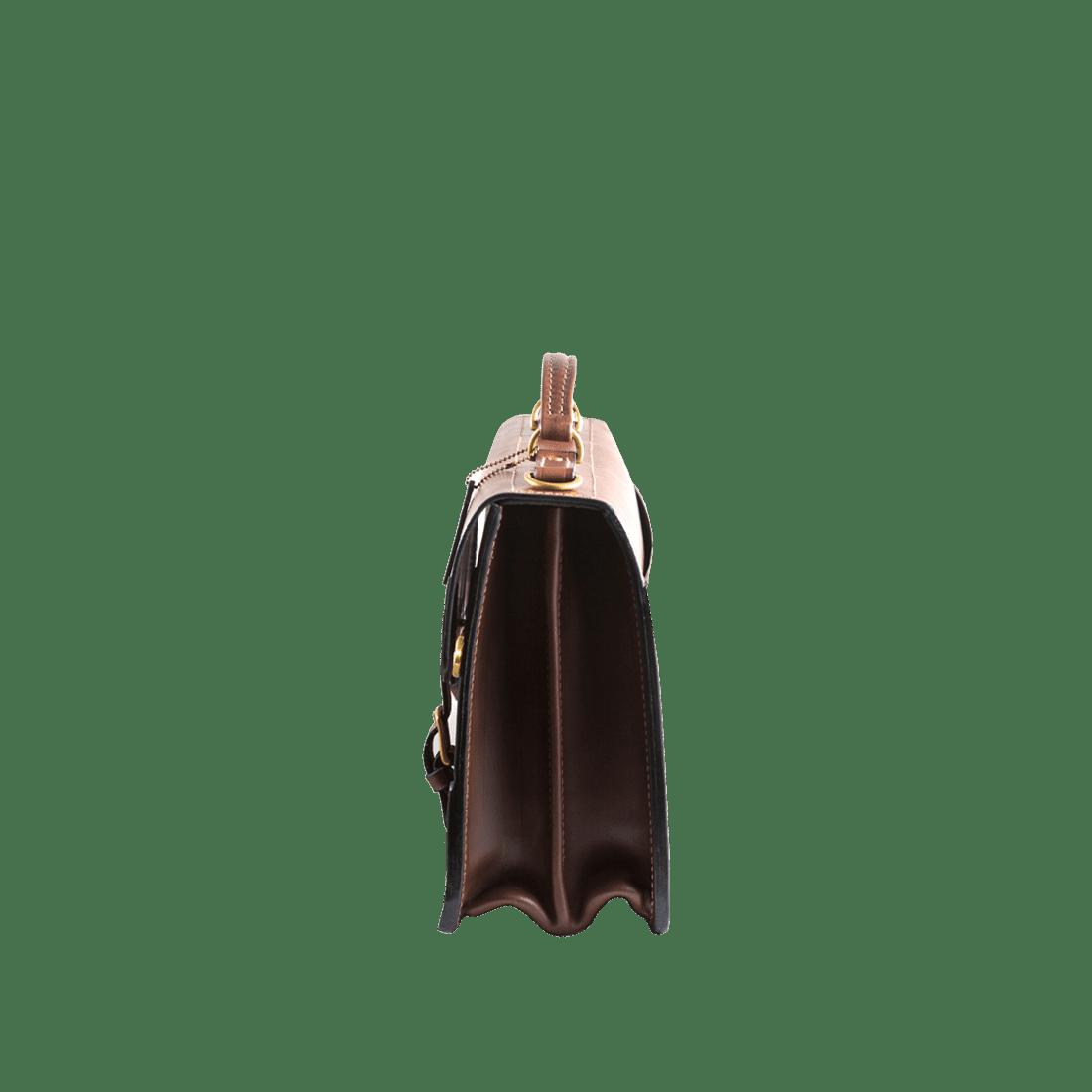 The Treasury briefcase chestnut