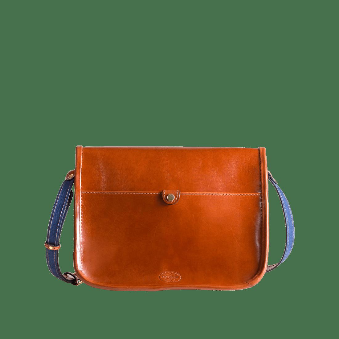 The classic satchel shiny tan